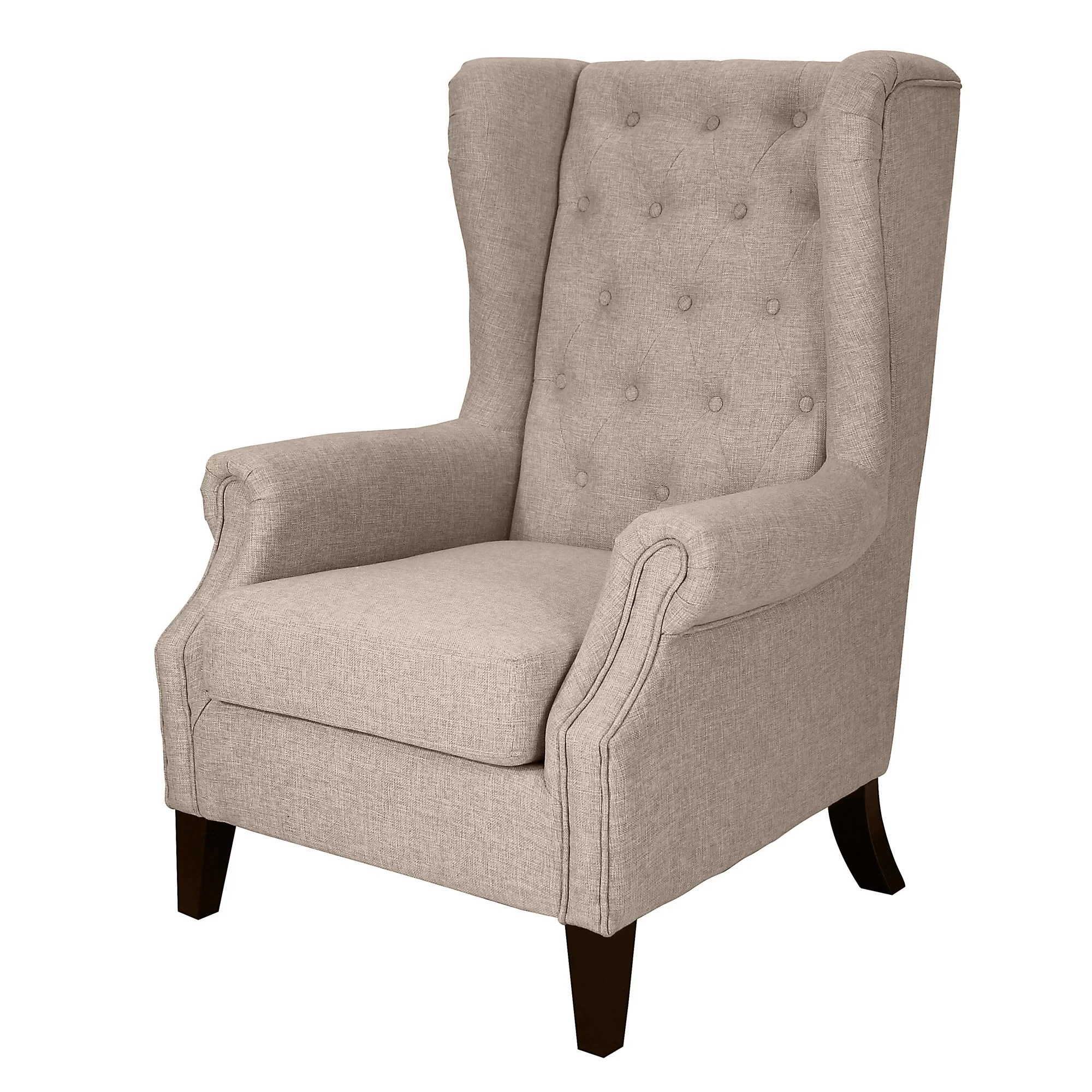 Dorothy Upholstered Wingback Chair  Wayfair
