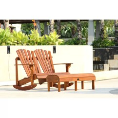 Double Rocking Adirondack Chair Plans Wingback Slipcover Pattern Signature Teak Back Wayfair