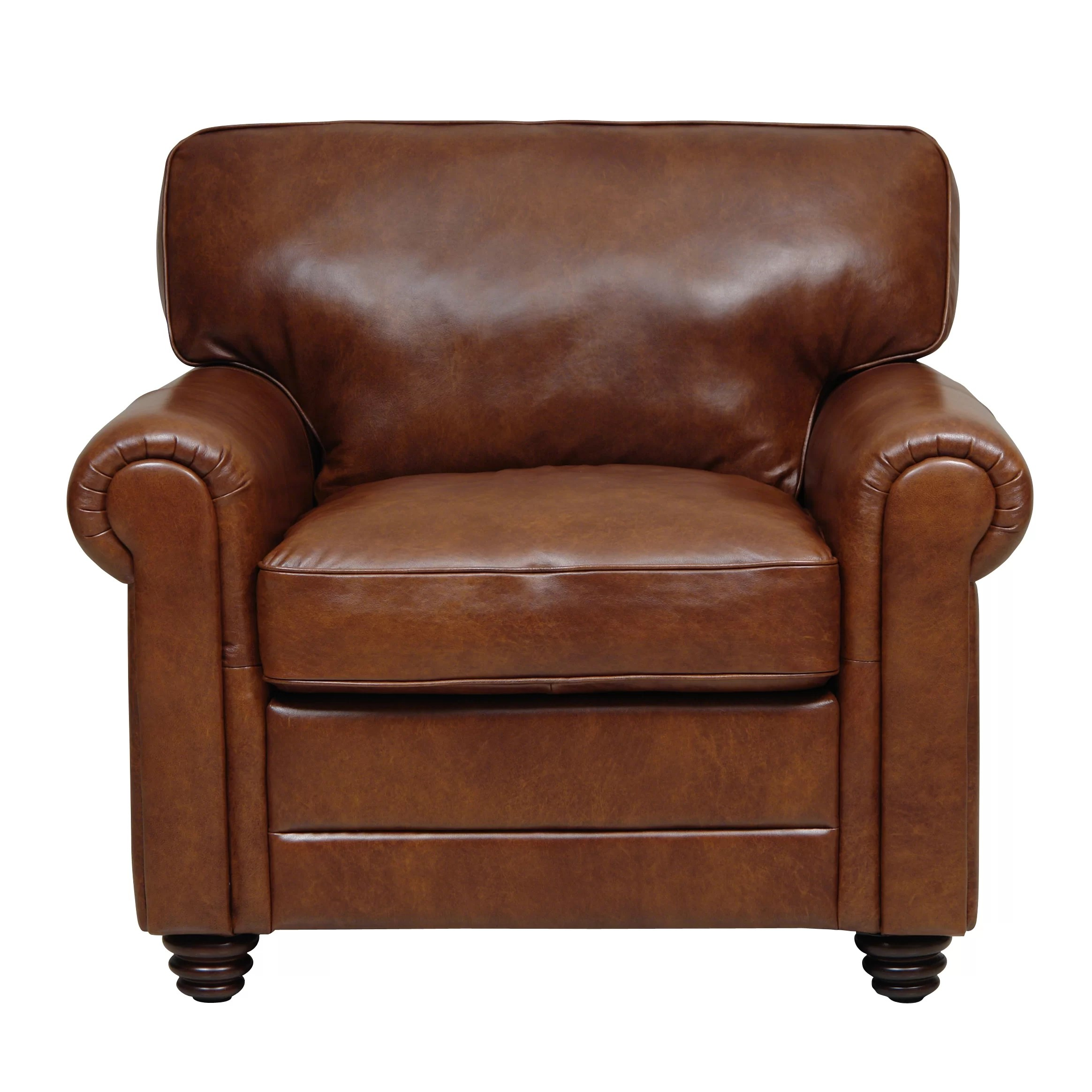 Club Chair Leather Darby Home Co Ardmore Italian Leather Club Chair And Reviews