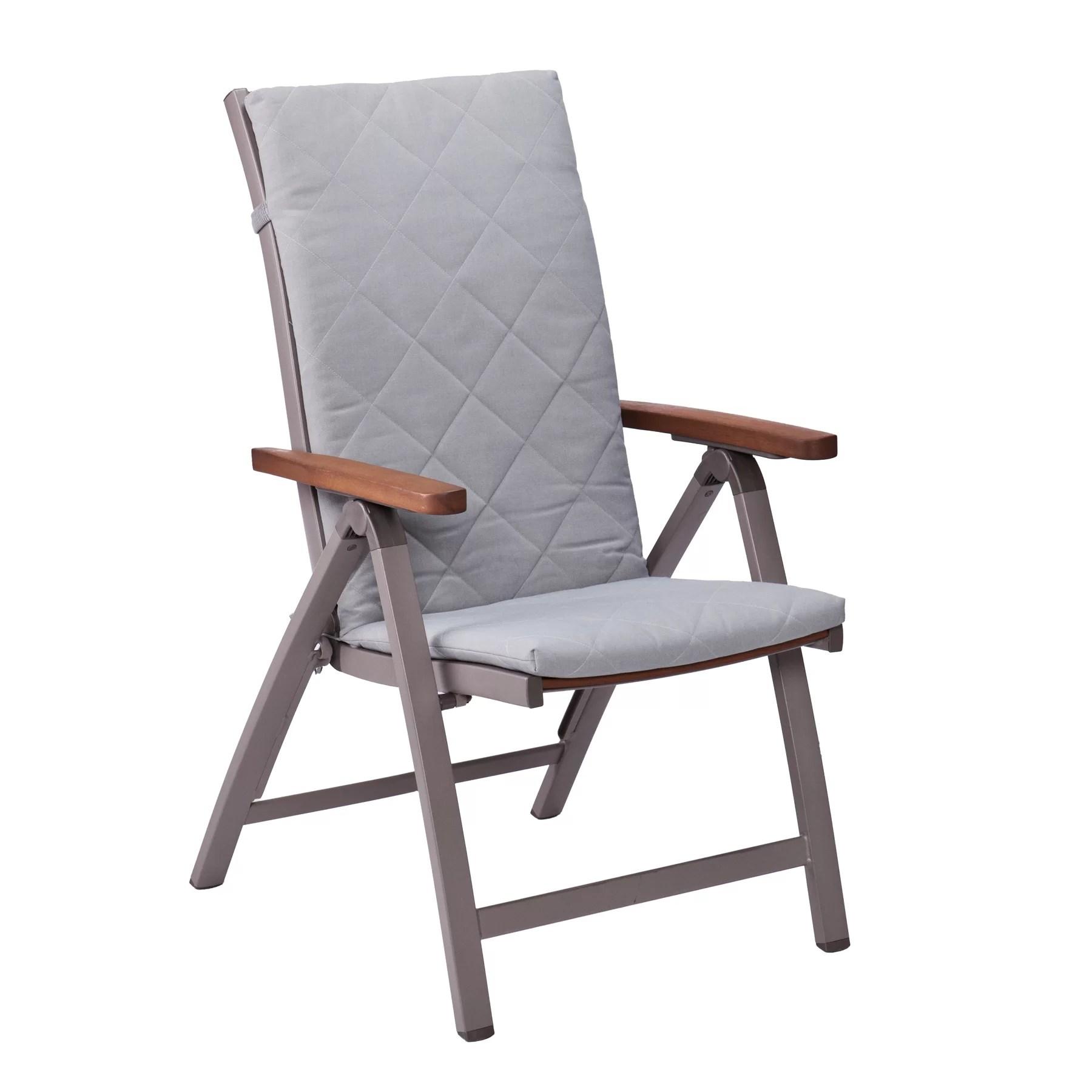 folding chair with cushion beach umbrella wildon home  maitland dining arm