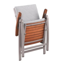 Folding Chair With Cushion Revolving In Gem Wildon Home  Maitland Dining Arm