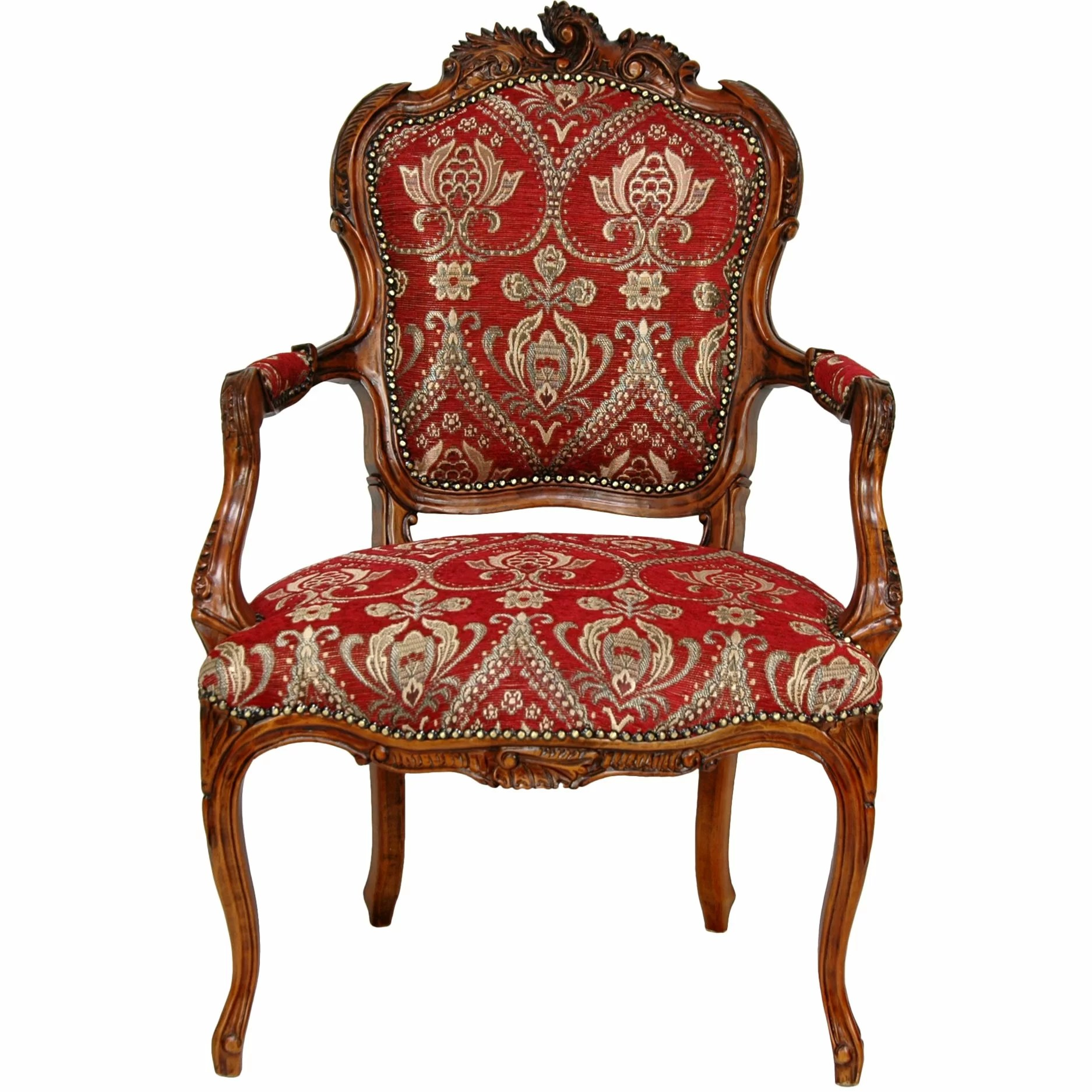 Queen Chairs Oriental Furniture Queen Elizabeth Fabric Arm Chair