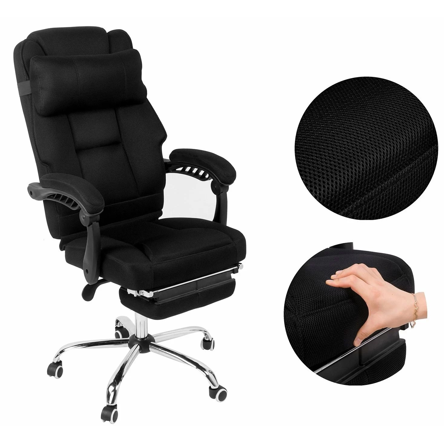 Office Chair Footrest Merax High Back Mesh Executive Office Chair With Footrest