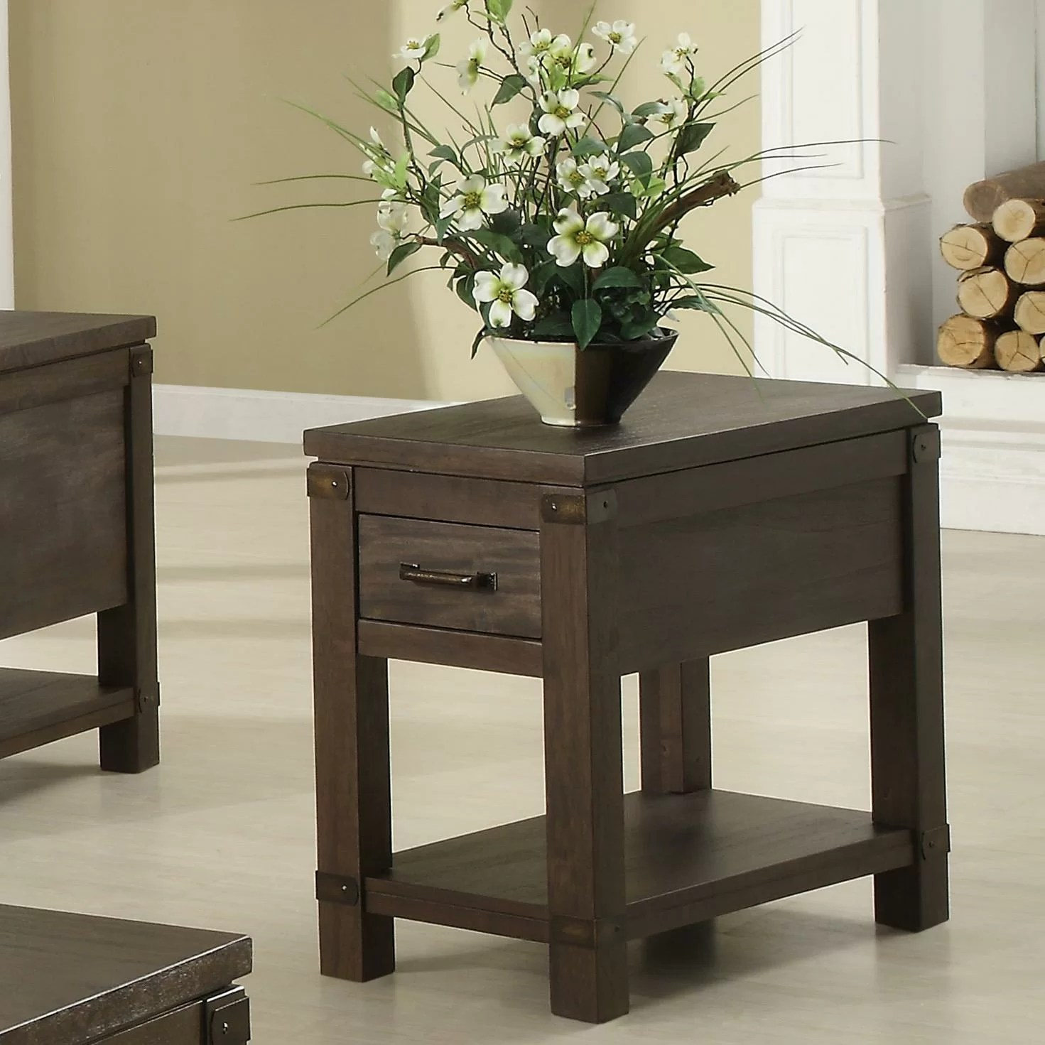 Chair Side Table Riverside Furniture Promenade Chairside Table And Reviews
