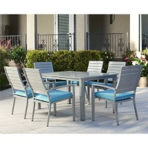 Outdoor 7 Piece Dining Set With Cushion