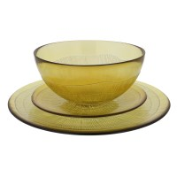 French Home Recycled Glass 12 Piece Dinnerware Set ...