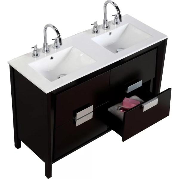 48 Double Sink Bathroom Vanity
