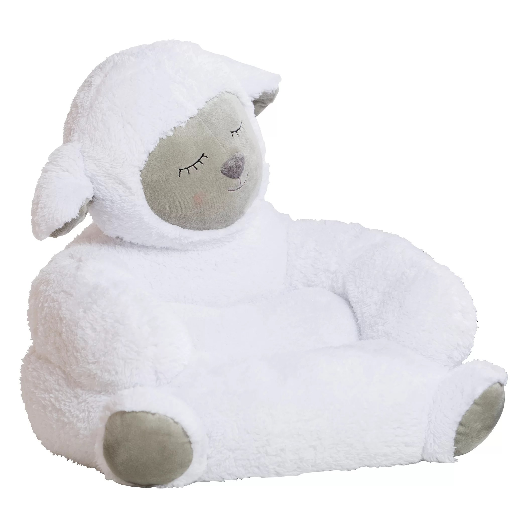 childrens plush chairs armchair accessories trend lab lamb children 39s character chair and reviews