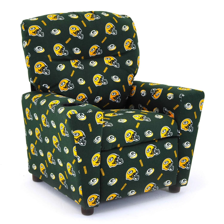 green bay packers chair walmart bouncy imperial nfl kid 39s recliner and reviews wayfair