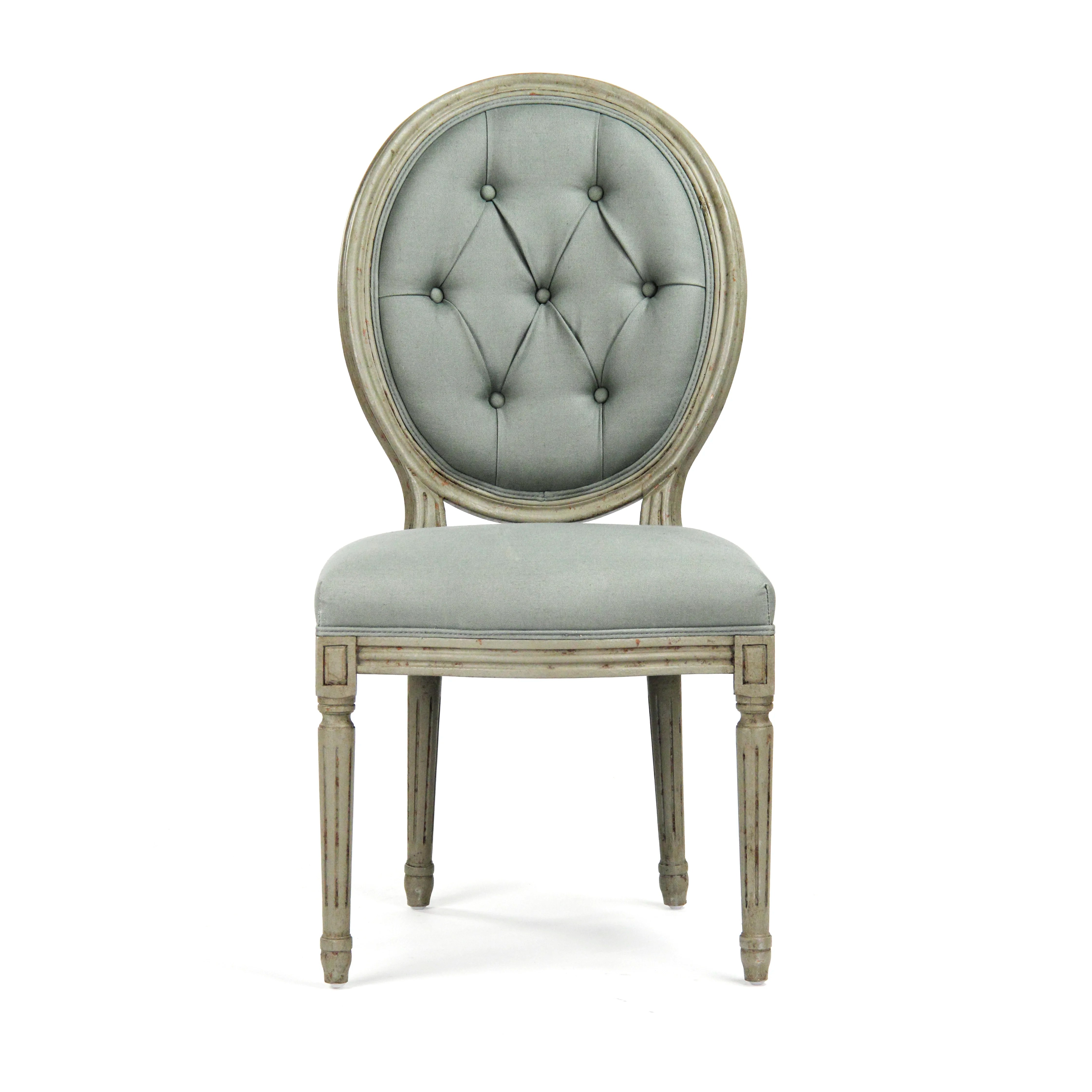 madeleine side chair review sling back patio chairs target zentique tufted medallion and reviews wayfair
