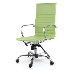 Swivel Office Chair No Arms Evenflo Convertible 3 In 1 High Winport Industries Back Eco Leather Executive