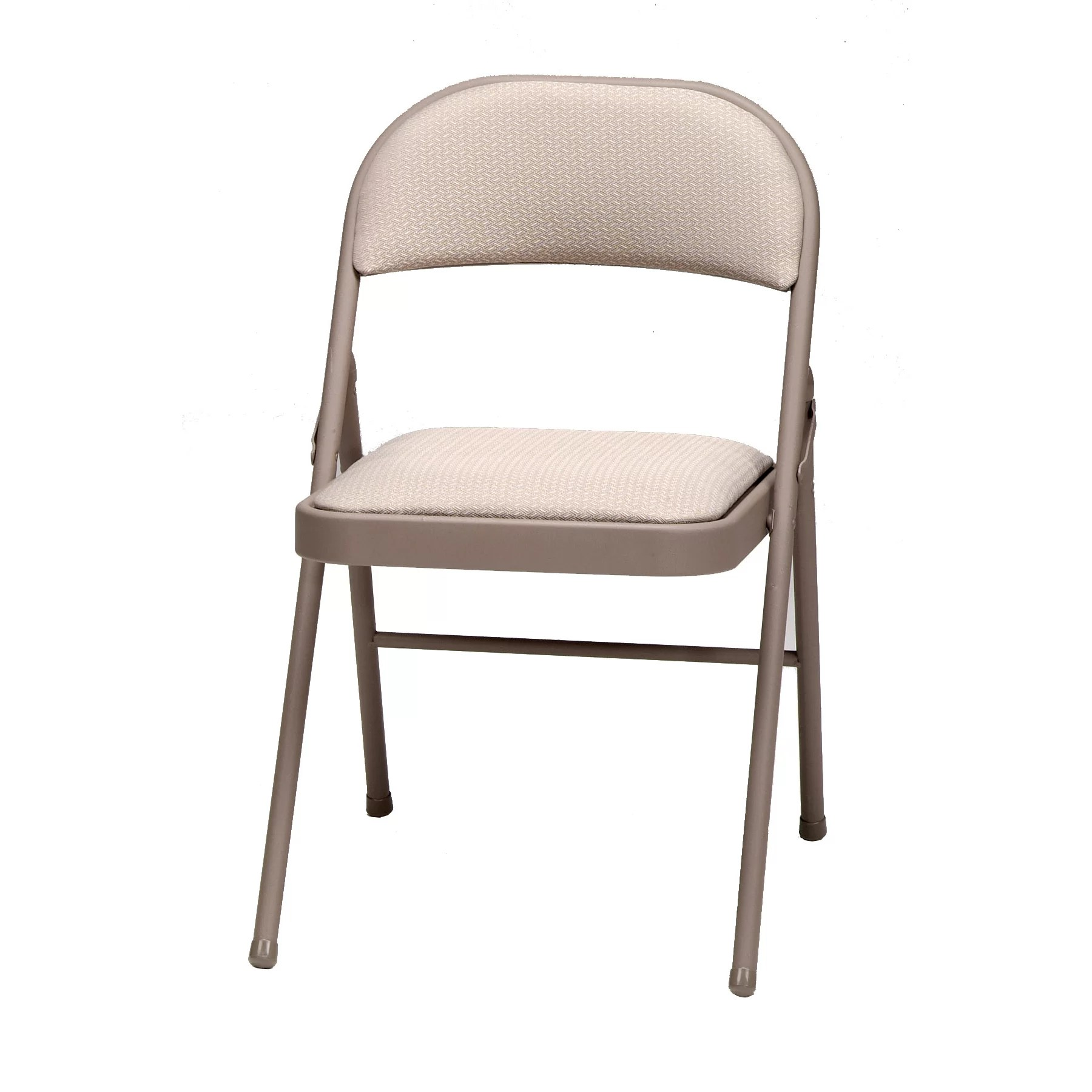 cloth padded folding chairs seat cushions for meco deluxe fabric chair and reviews wayfair