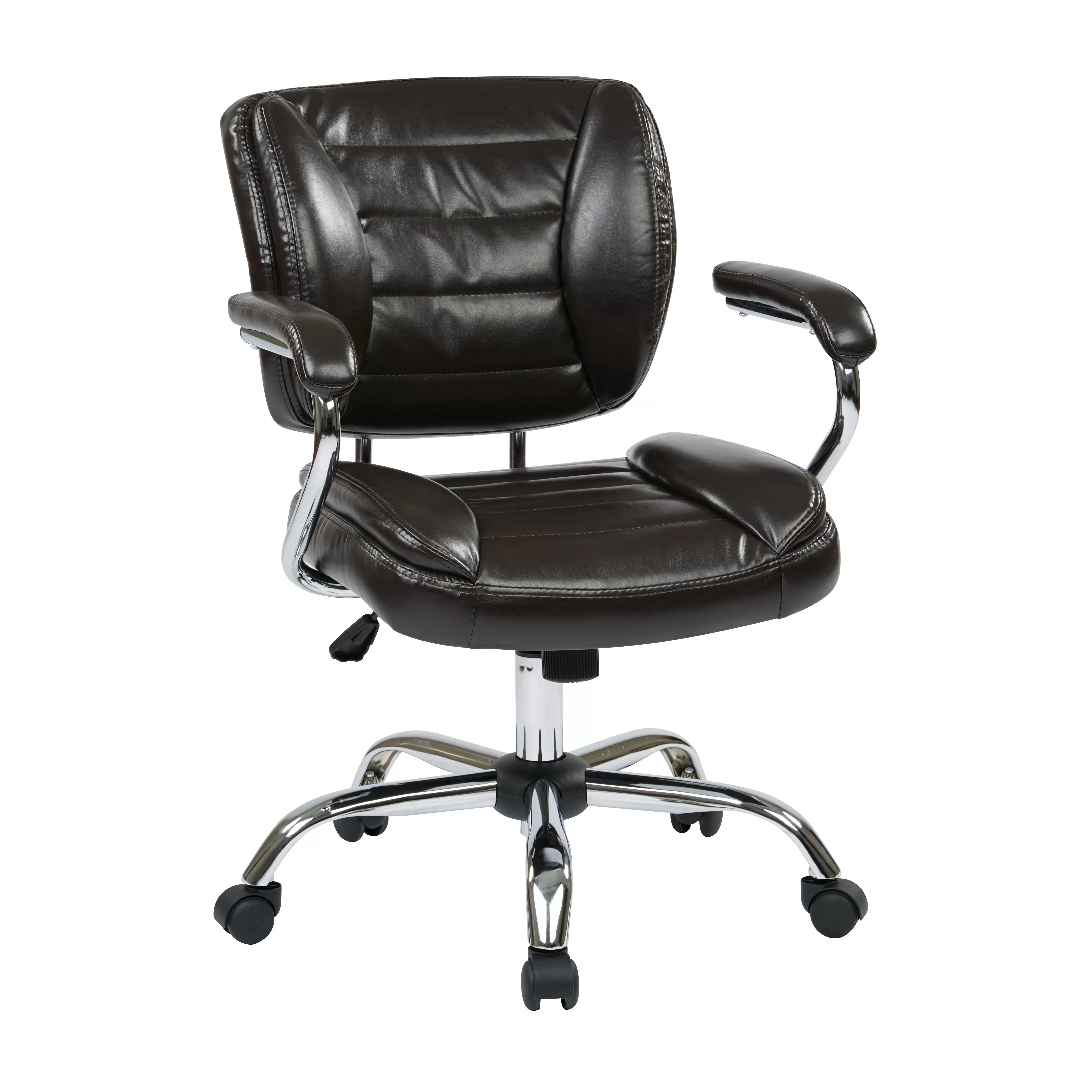 cream office chair faux leather personalized beach chairs for adults star adjustable and reviews