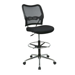 Adjustable Drafting Chair Steel Square Office Star Height With Footring