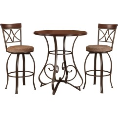 Pub Table And Chairs 3 Piece Set 2 Mid Century Tulip Wayfair