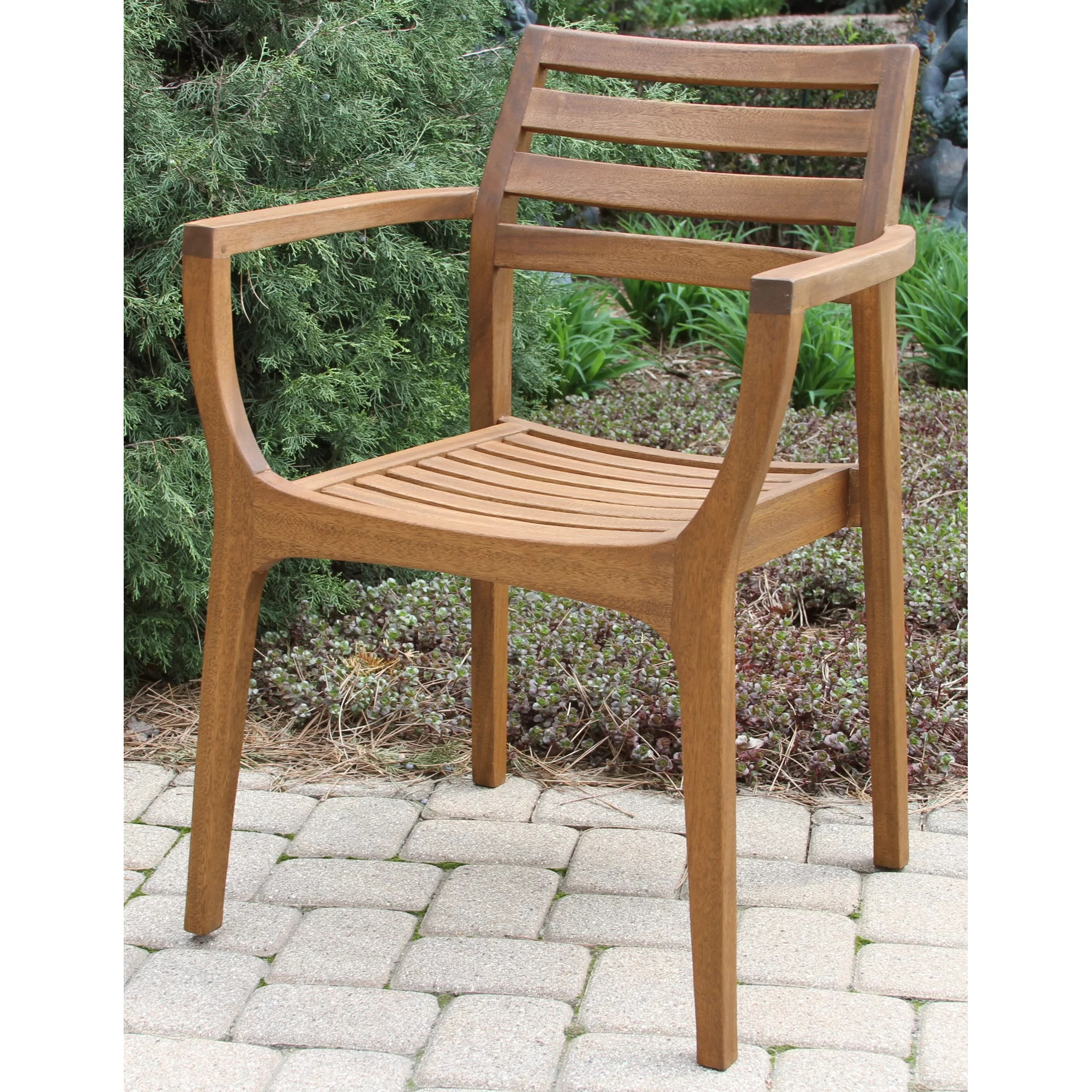 Stacking Outdoor Chairs Outdoor Interiors Danish Eucalyptus Stacking Chair