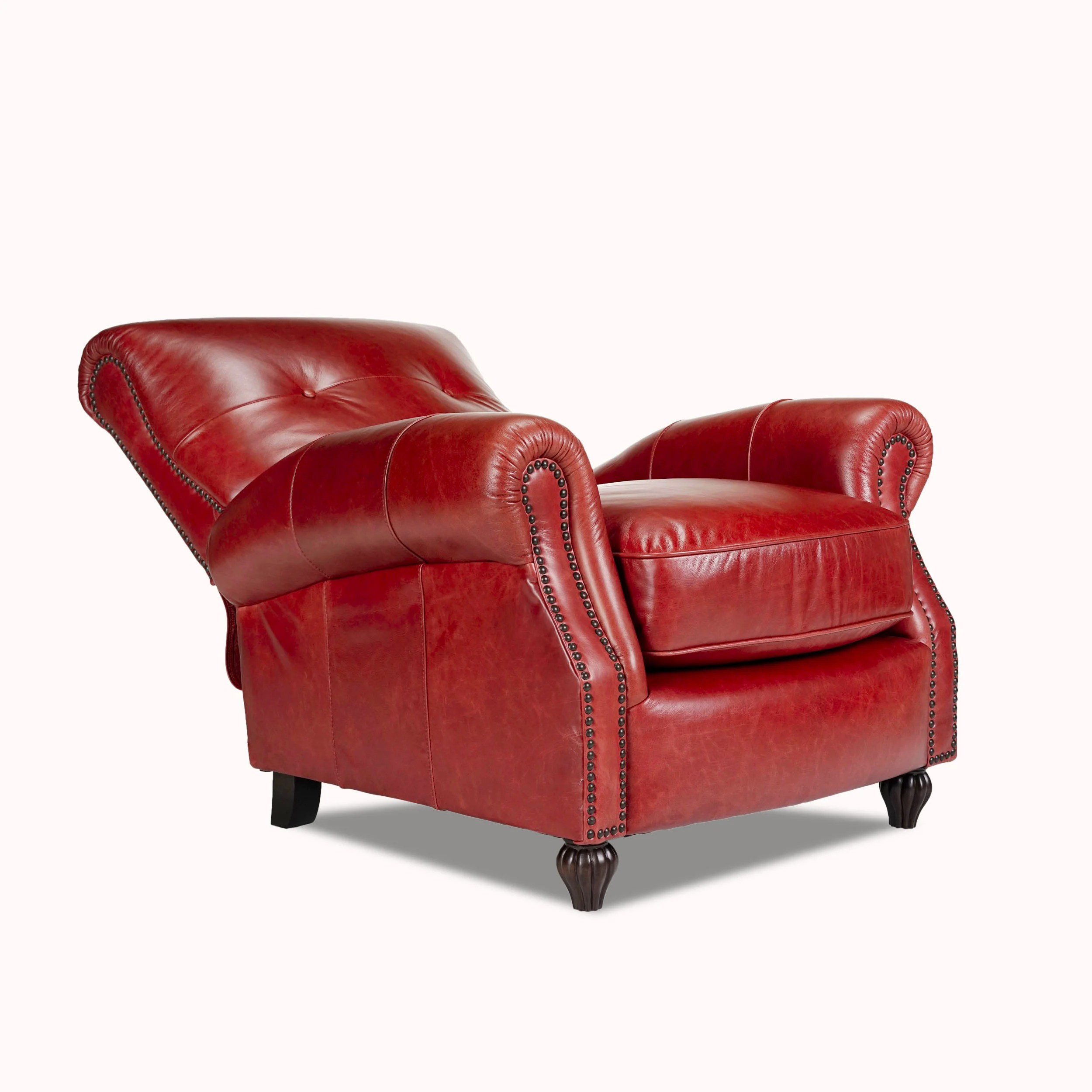 press back chair cane bistro chairs opulence home benjamin leather arm