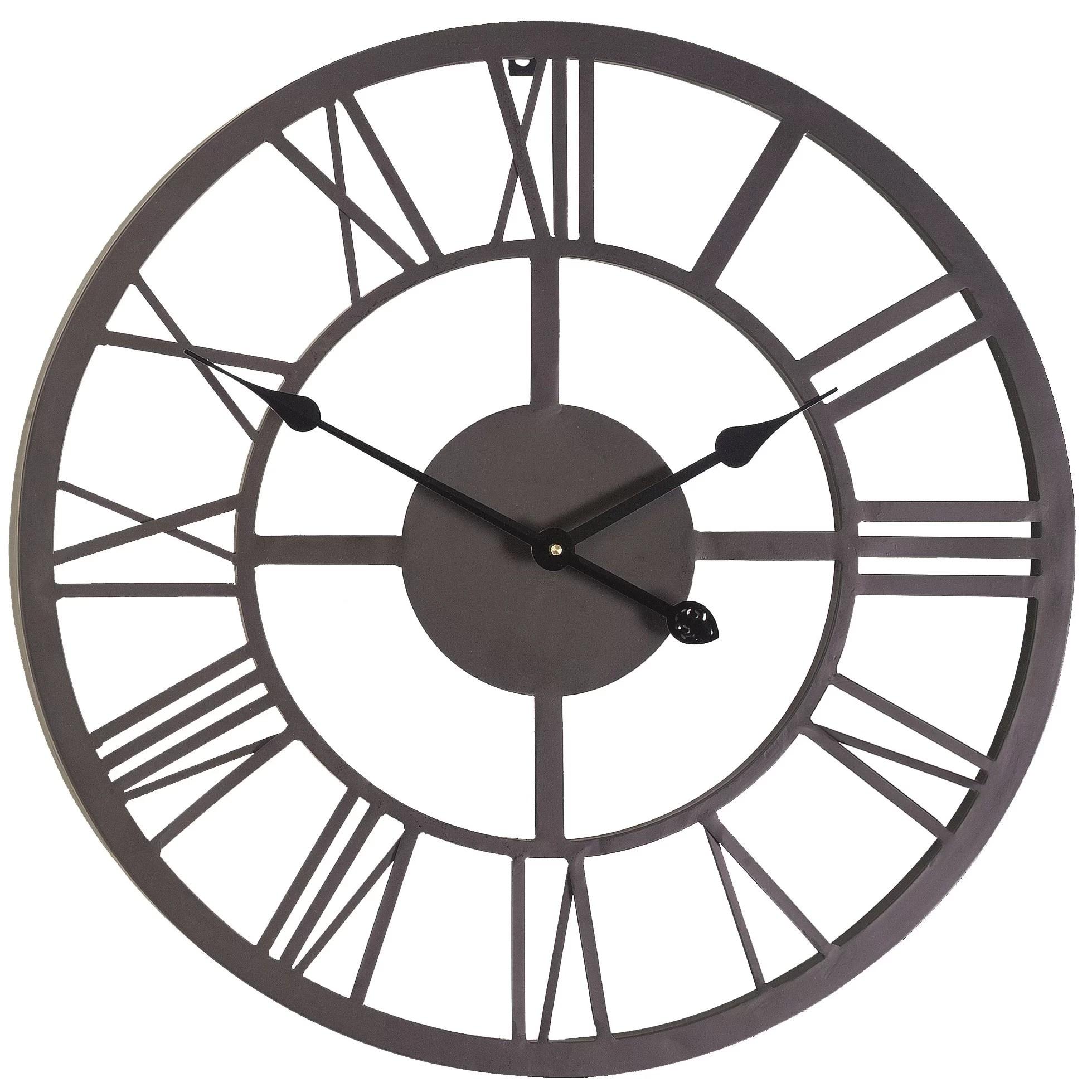 Trent Austin Design Oversized 22 Roman Numeral Wall Clock