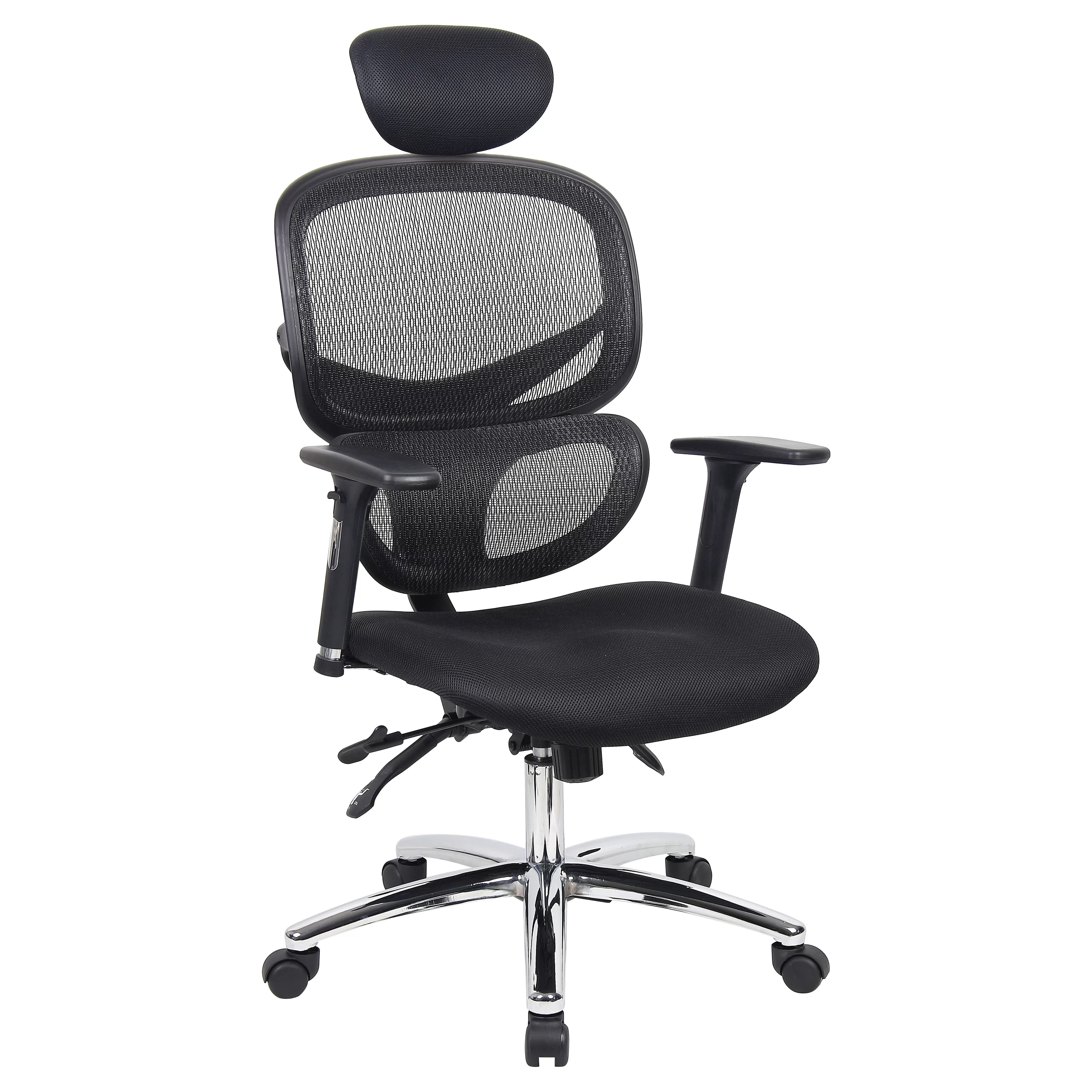 office chair lumbar support mesh game table and chairs set ergonomics 4 work wave high back executive with