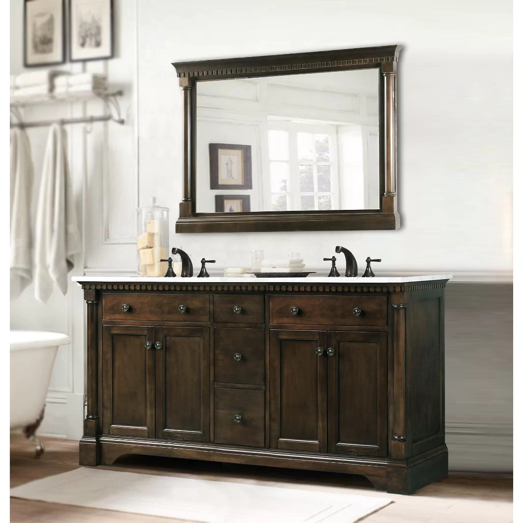 Legion Furniture 60 Double Bathroom Vanity Set  Reviews  Wayfair