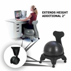 Balance Ball Desk Chair Reviews Wedding Covers Hire Inverness Extension Wayfair