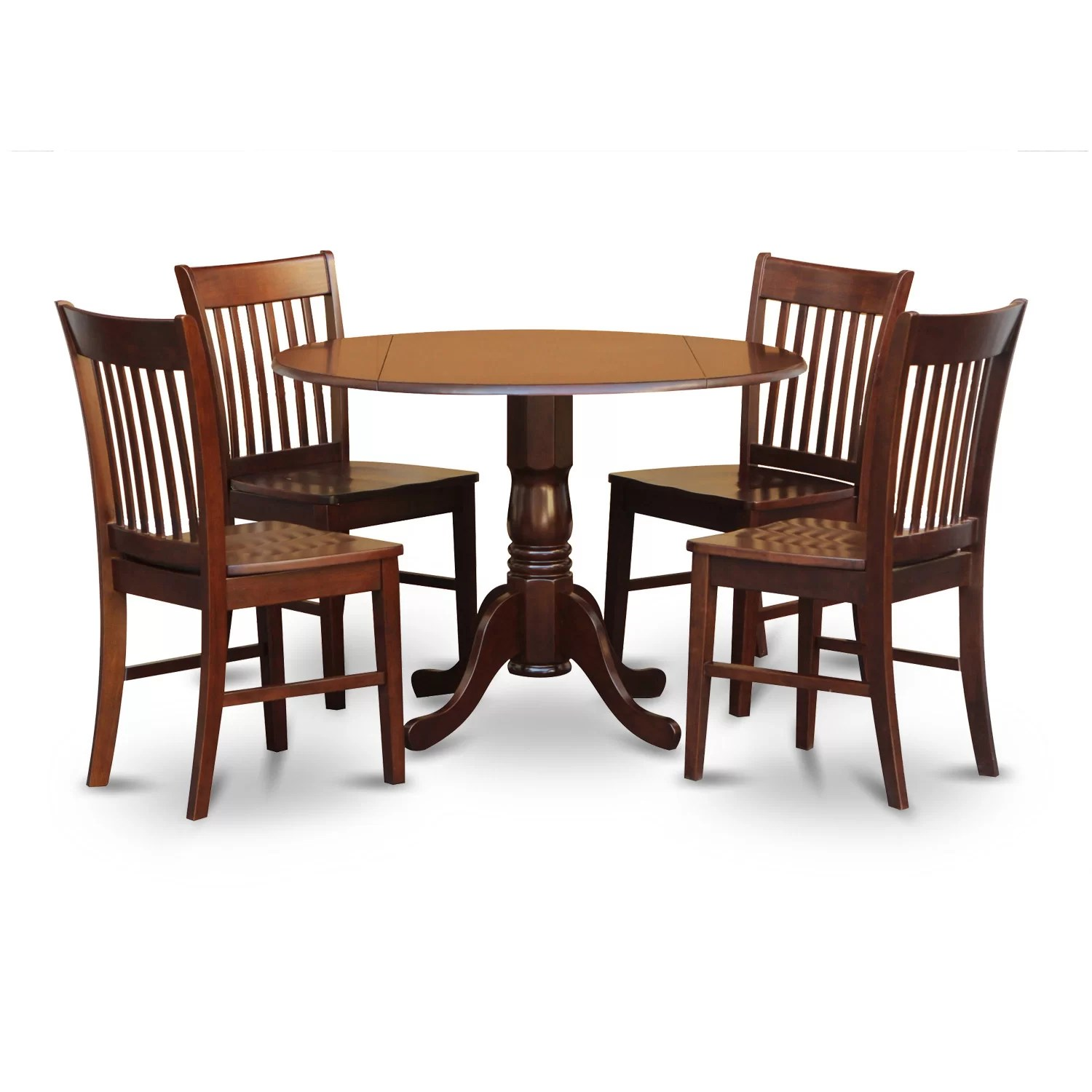 Wayfair Dining Chairs East West Dublin 5 Piece Dining Set And Reviews Wayfair