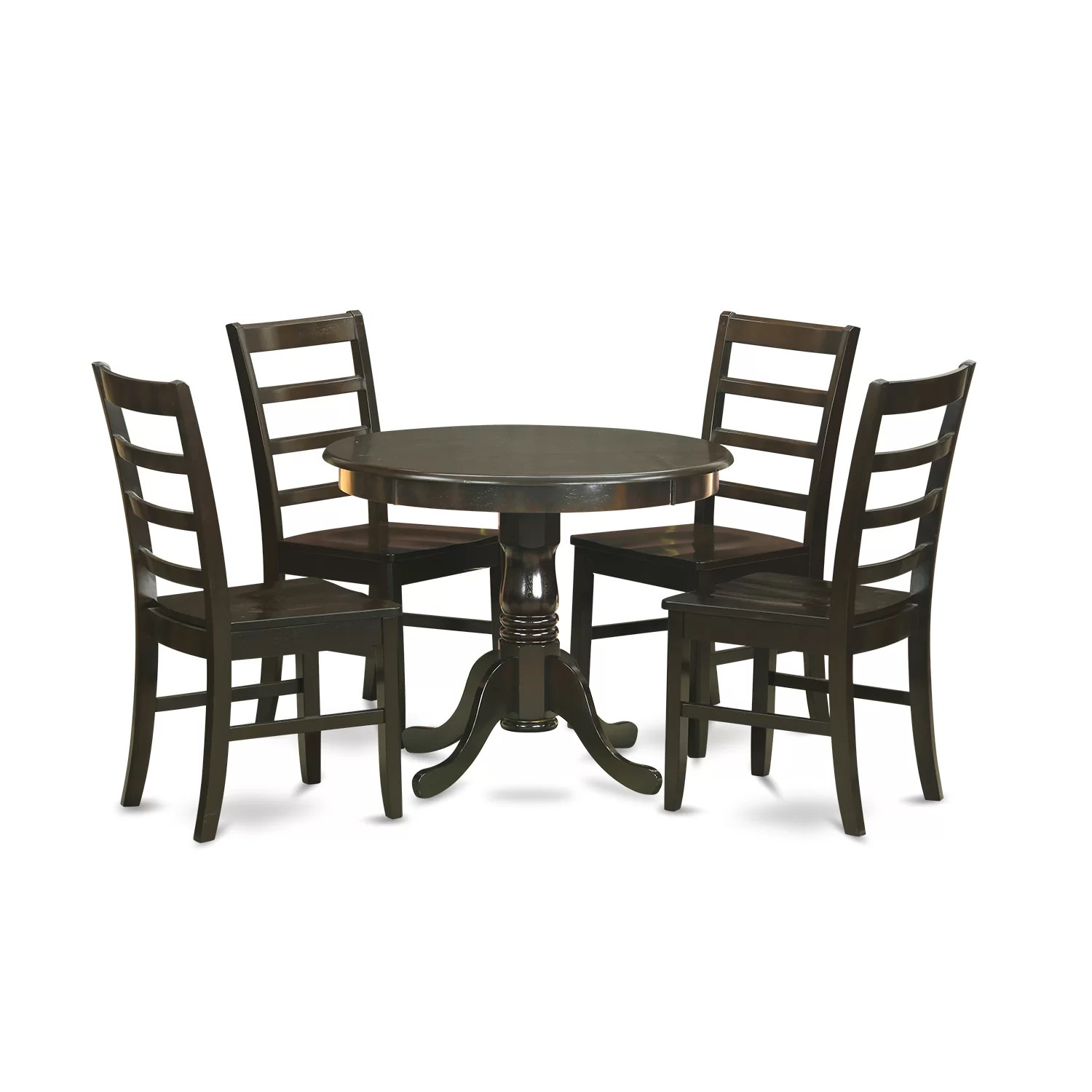 Drop Leaf Table With Chairs 5 Piece Dining Set Wayfair