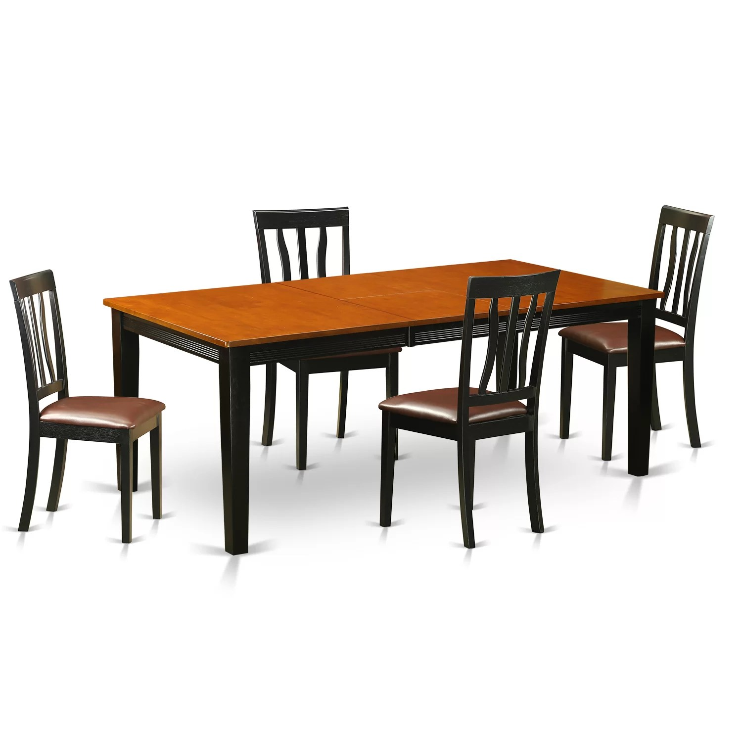 Unfinished Dining Room Chairs Quincy 5 Piece Dining Set Wayfair