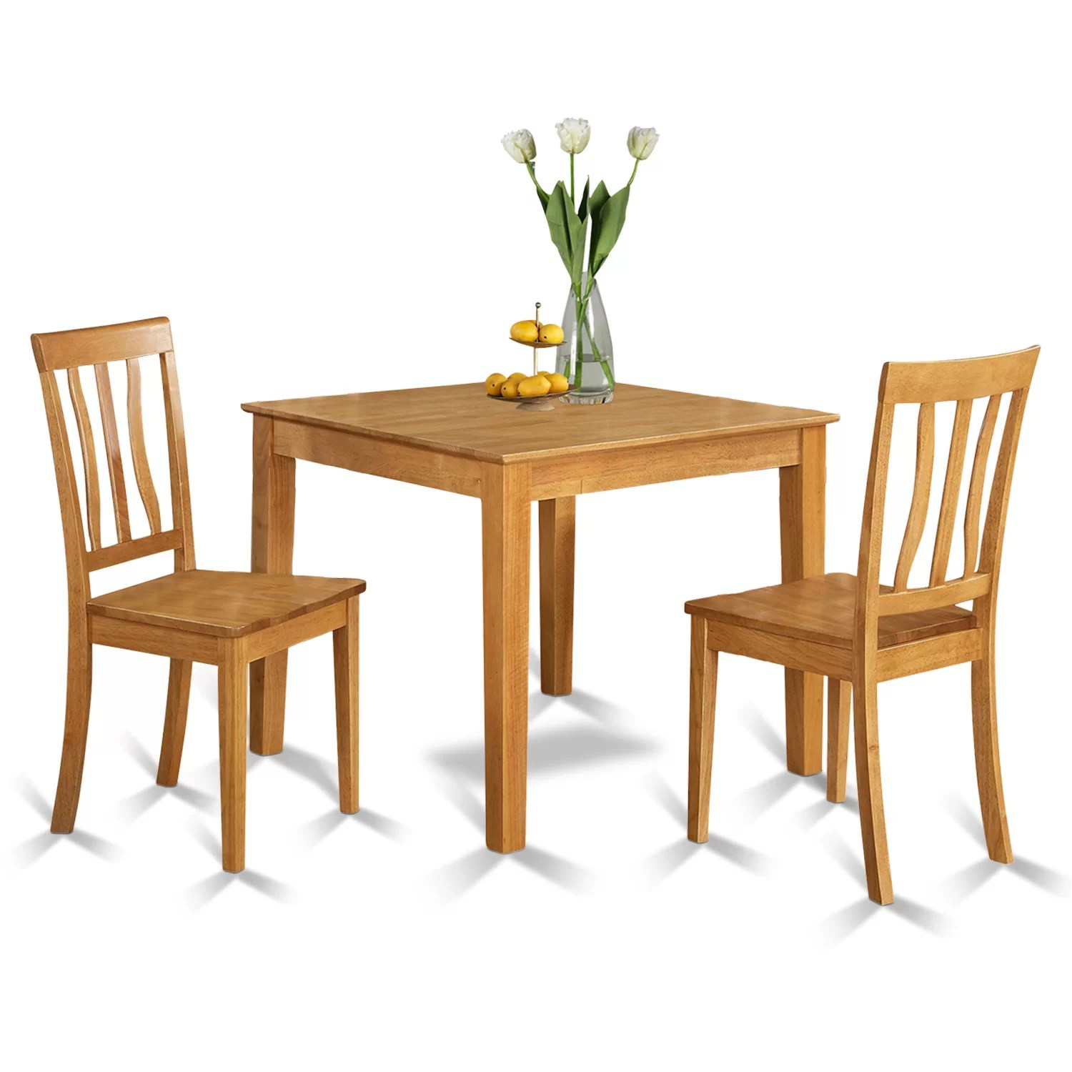Rectangle Kitchen Table And Chairs Oxford 3 Piece Dining Set Wayfair