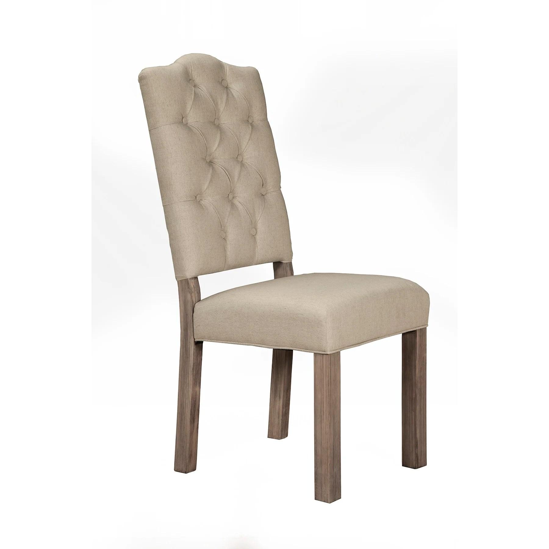 tufted side chair revolving specification fiji upholstered wayfair