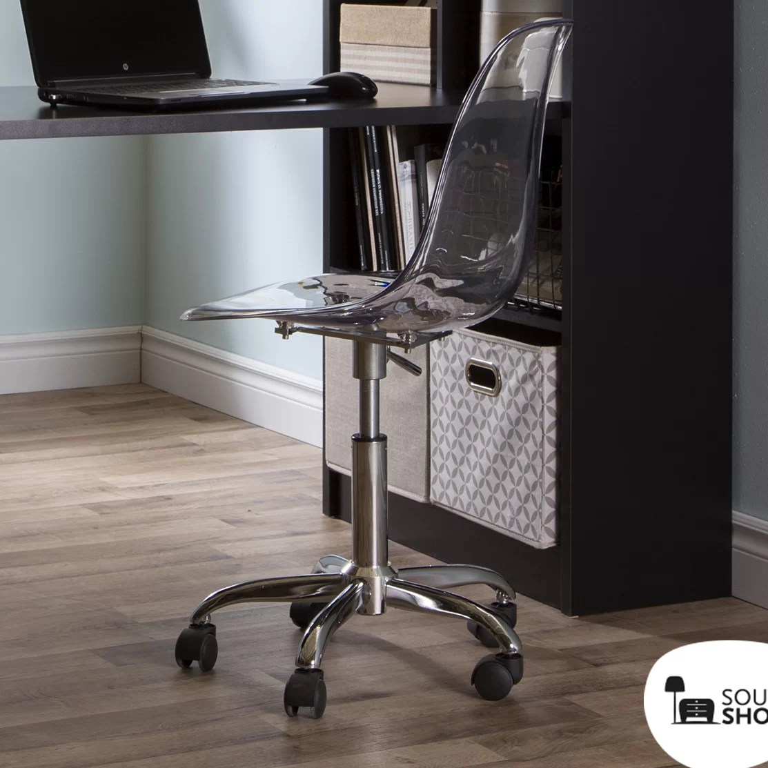 clear plastic desk chair european covers south shore acrylic office and reviews wayfair
