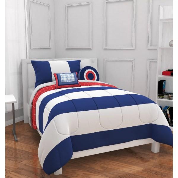 Heritage Kids Rugby Stripe Comforter Set &