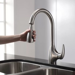 Spray Head Kitchen Faucet French Style Furniture Kraus One Handle Single Hole With Pull Down
