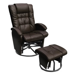 Chair And Ottoman Sets Under 200 Ergonomic Height Bonded Leather Glider Set Wayfair