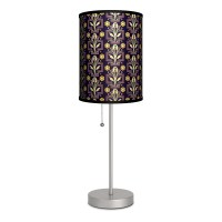 "Decor Art Floral Ornament 20"" H Table Lamp with Drum Shade ..."
