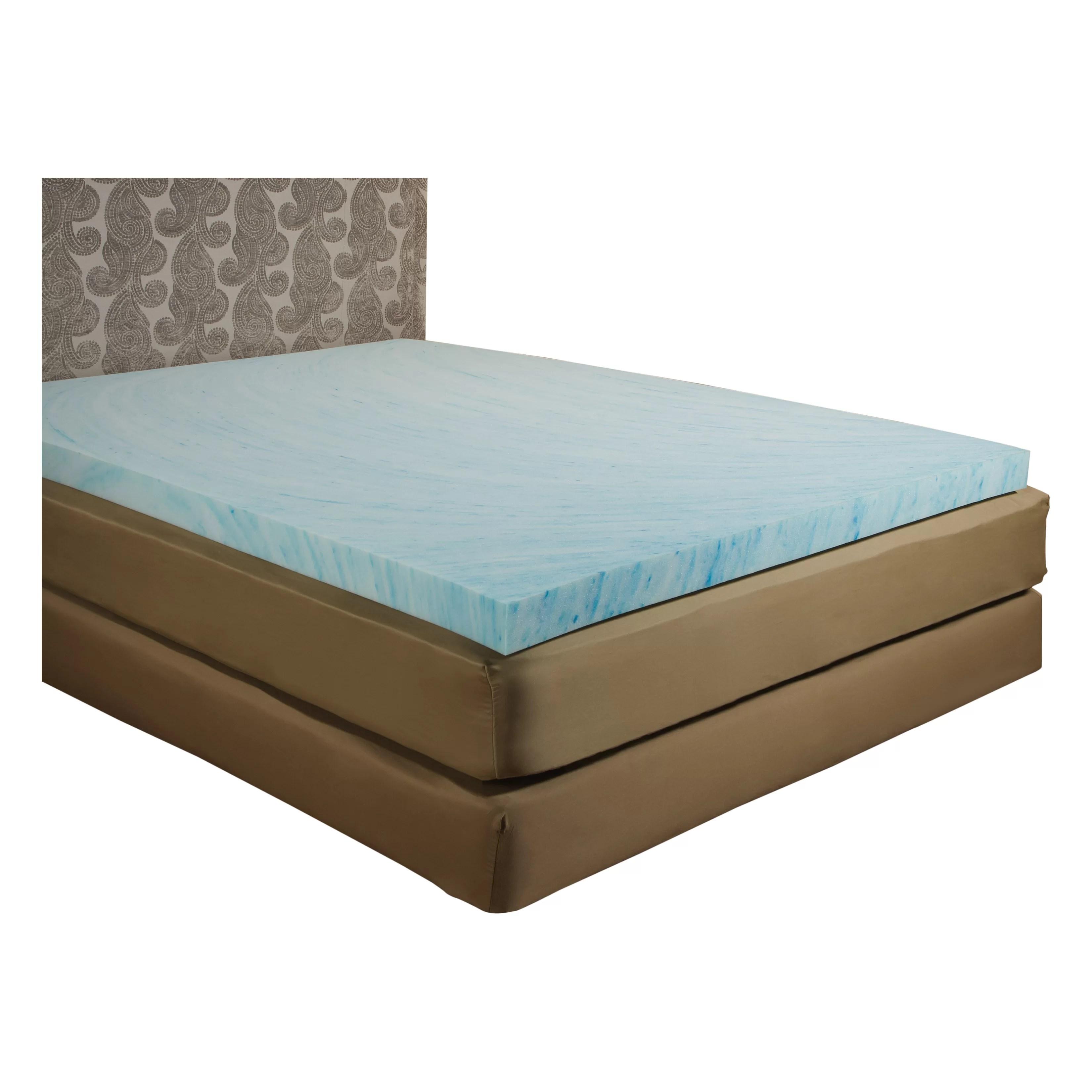 Independent Sleep 3 Gel Memory Foam Mattress Topper