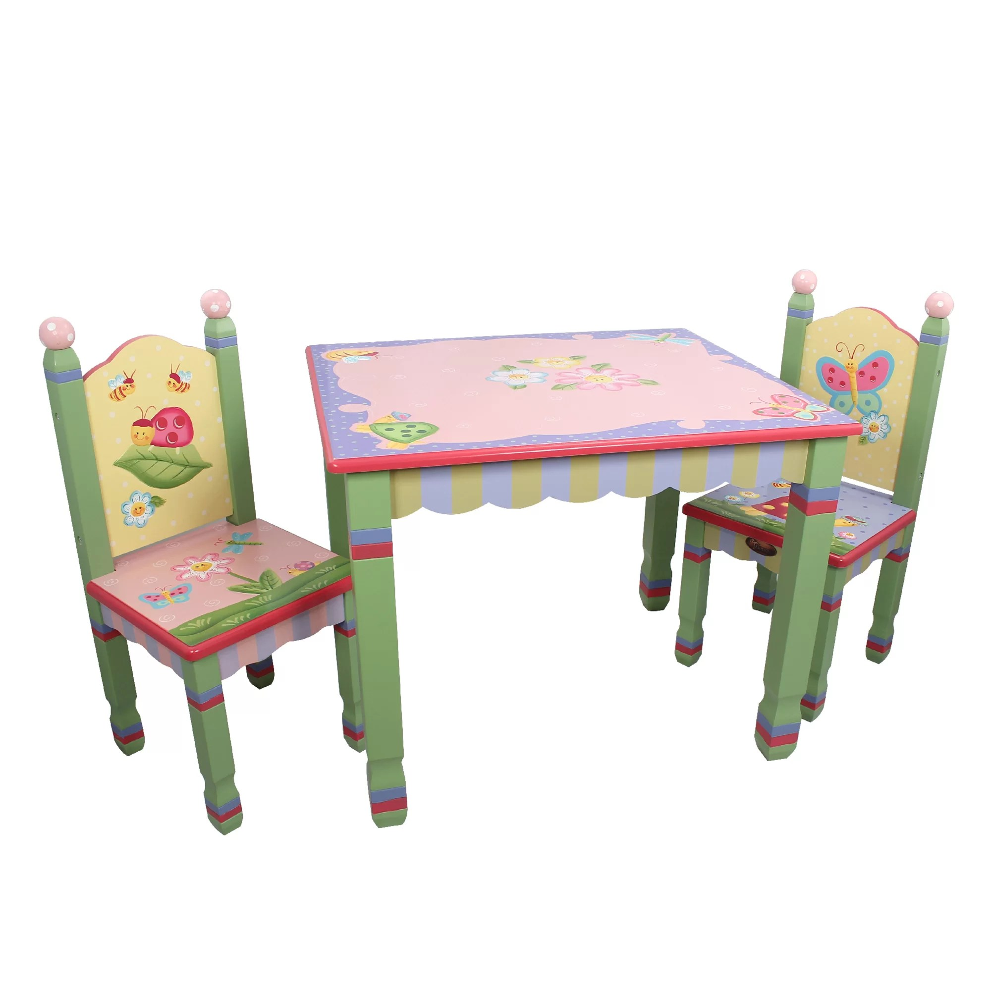 kids chair set dining table plastic covers fantasy fields magic garden 3 piece and