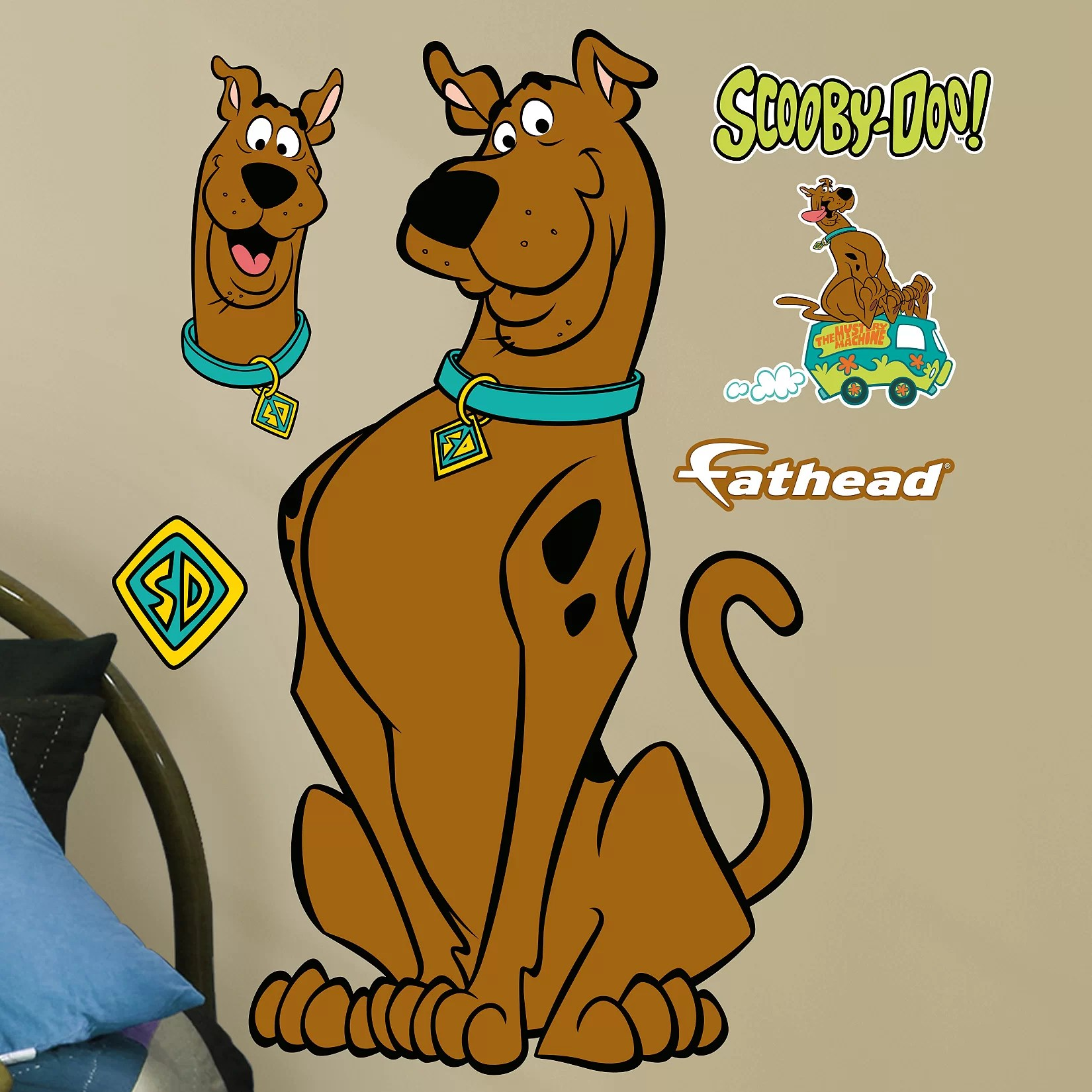 scooby doo chair wooden folding table and chairs warner bros junior peel stick wall decal