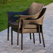 Home Loft Concepts Norm Outdoor Wicker Arm Chair &
