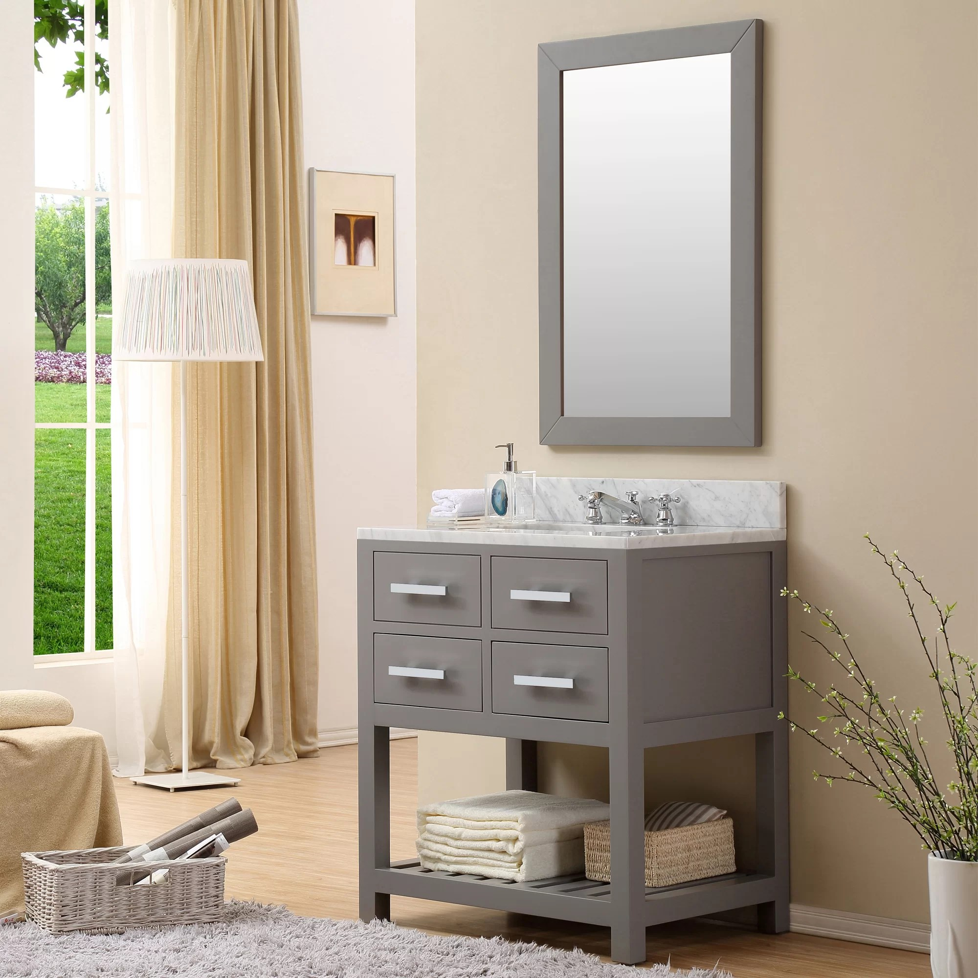 Home Loft Concepts 30 Single Sink Bathroom Vanity Set  Reviews  Wayfair