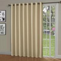 Maya Blackout Thermal Patio Door Grommet Single Curtain ...