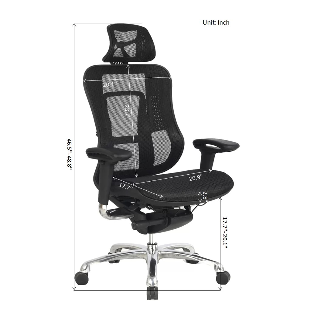 Viva Office Chair High Back Mesh Task Chair With Adjustable Arms Headrest