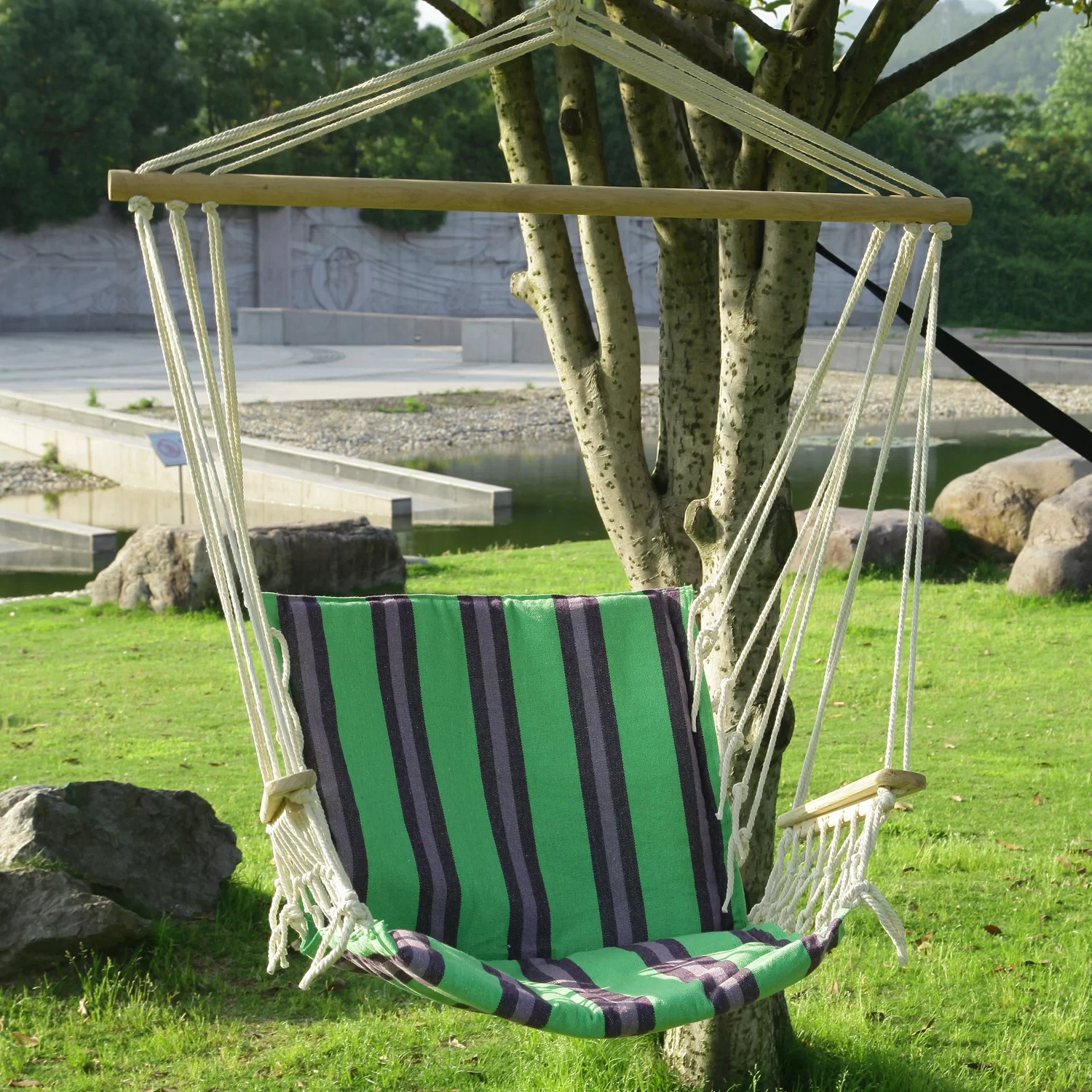 hanging tree swing chair modern white leather swivel adecotrading suspended indoor outdoor hammock