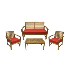 1 Piece Patio Chair Cushions Counter Height Table And Sets 4 Outdoor Furniture Set With