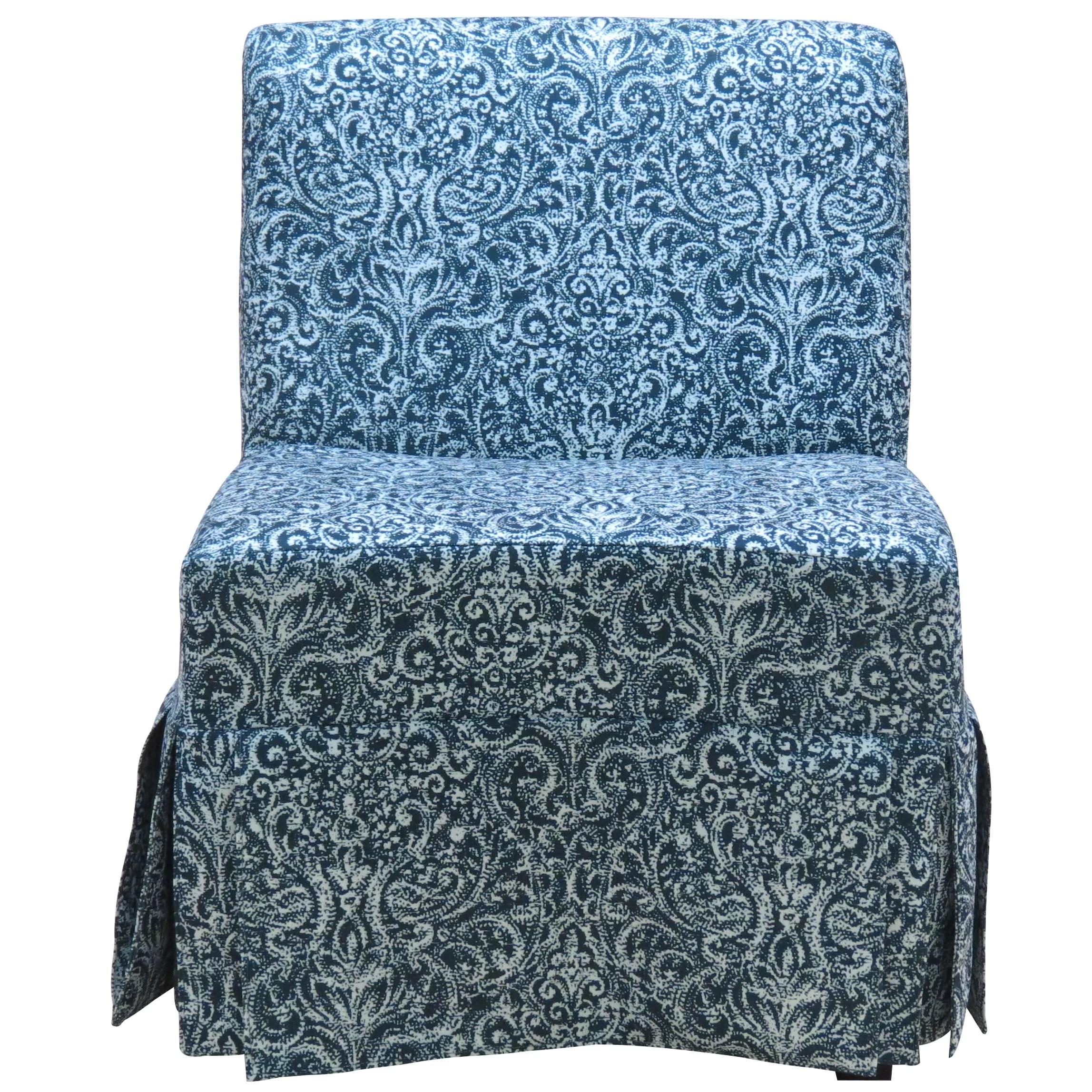 slipcover for armless slipper chair ikea mammut lark manor tiago skirted and reviews