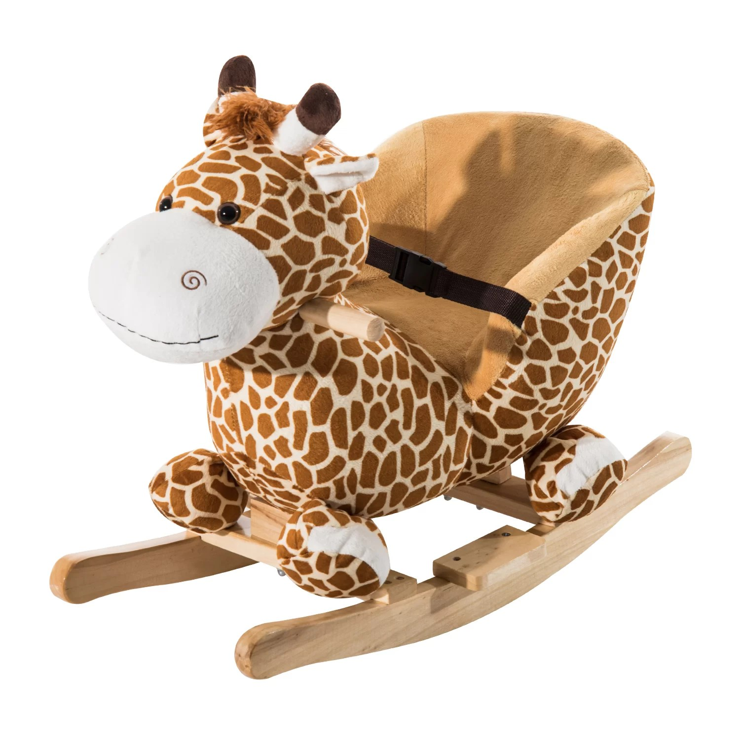 Giraffe Rocking Chair Giraffe Plush Rocking Horse Wayfair