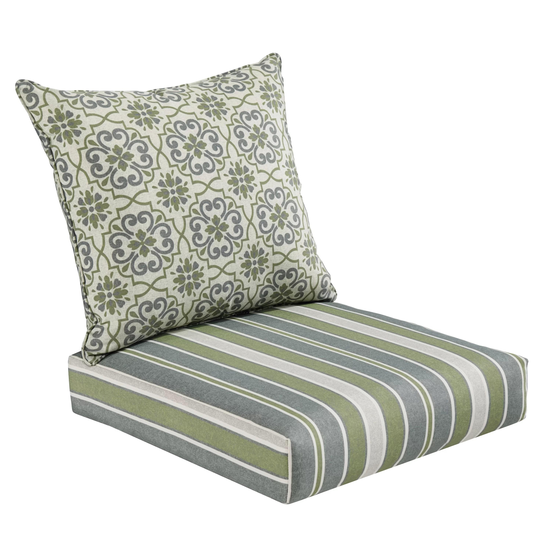 1 piece patio chair cushions japanese obi chairs 2 outdoor deep seat cushion set wayfair