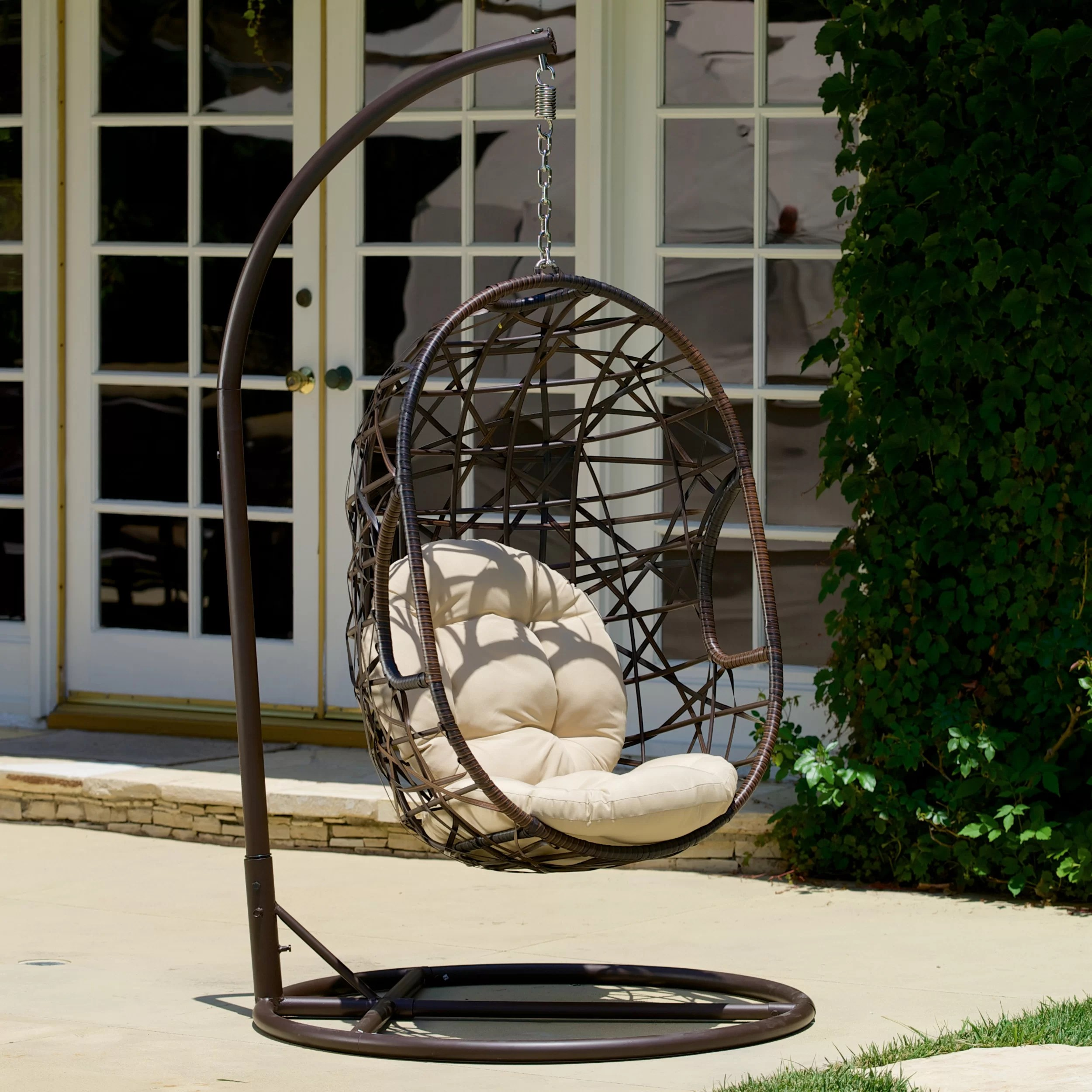 Egg Swing Chair Bay Isle Home Duncombe Egg Shaped Outdoor Swing Chair