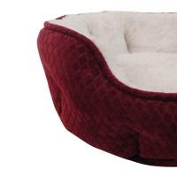 R2PPetLtd. Beautyrest Subtle Seat Diamond Burgundy Dog Bed ...