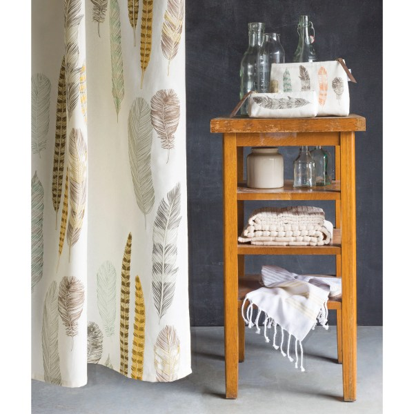 Danica Studio Quill 100 Cotton Shower Curtain &
